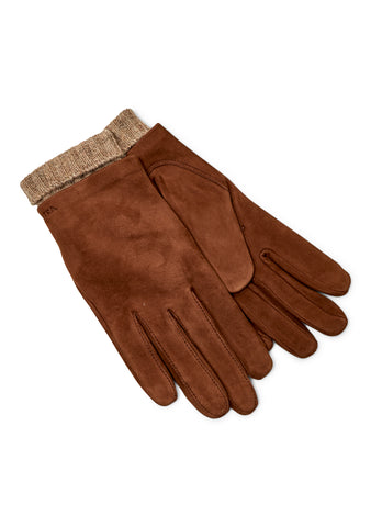 Megan Toffee Suede Gloves