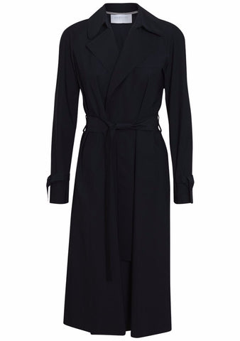 Harris Wharf London Dark Blue Technical Trench Coat