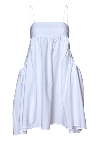 Lisbeth White Bandeau Cotton Dress