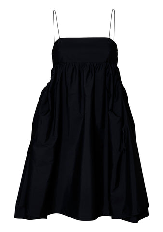 Lisbeth Black Bandeau Cotton Dress