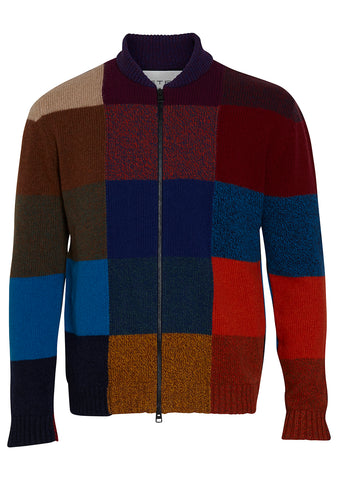 Etro Patchwork Zip Cardigan