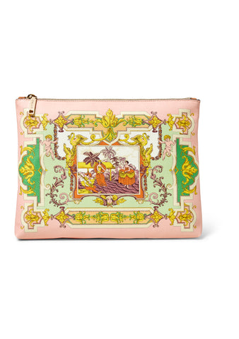 Light Pink Printed Clutch
