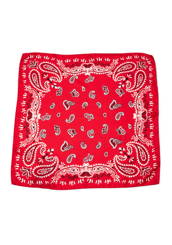 Red Bandana Silk Scarf