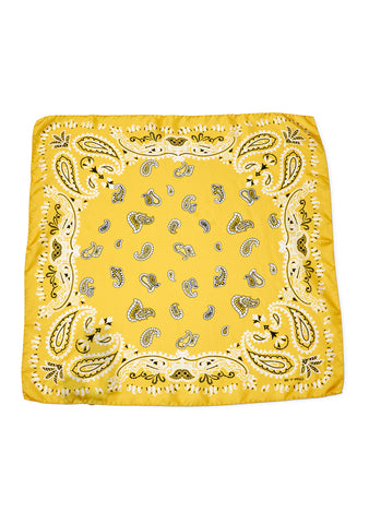 Yellow Bandana Silk Scarf