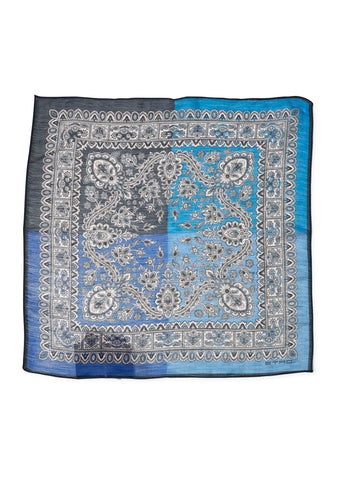 Blue Paisley Pocket Scarf