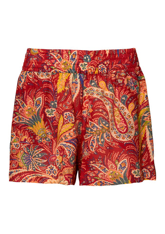 Red Paisley Shorts