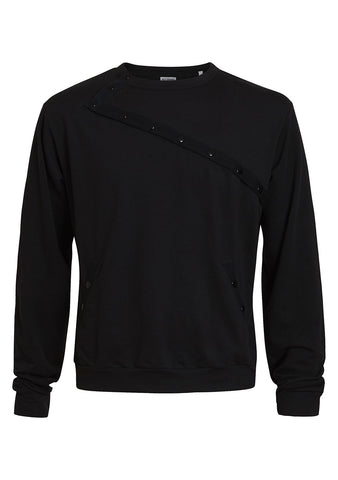 Freestyle longsleeve sweater in black
