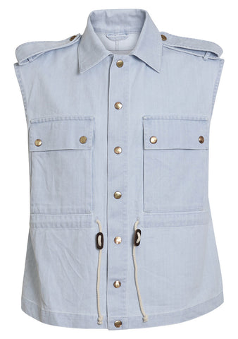 Light blue Todd military vest