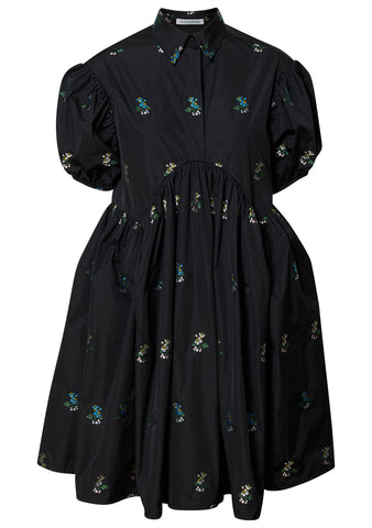 Esther Black Floral Dress