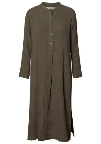 Henley Dress Army