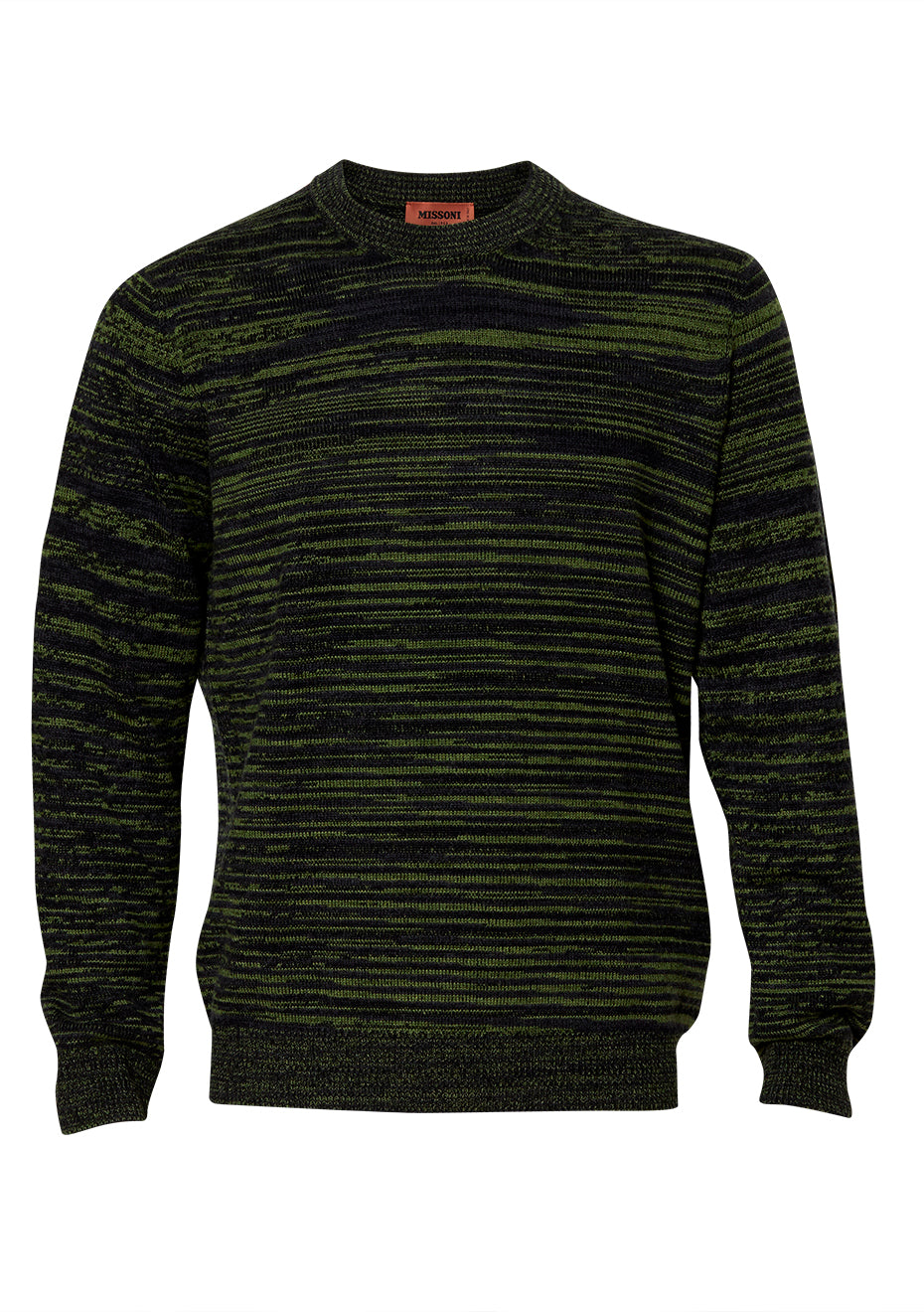 Navy & Green Cashmere Crew Neck