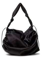 Wooyou Black Satin Bag
