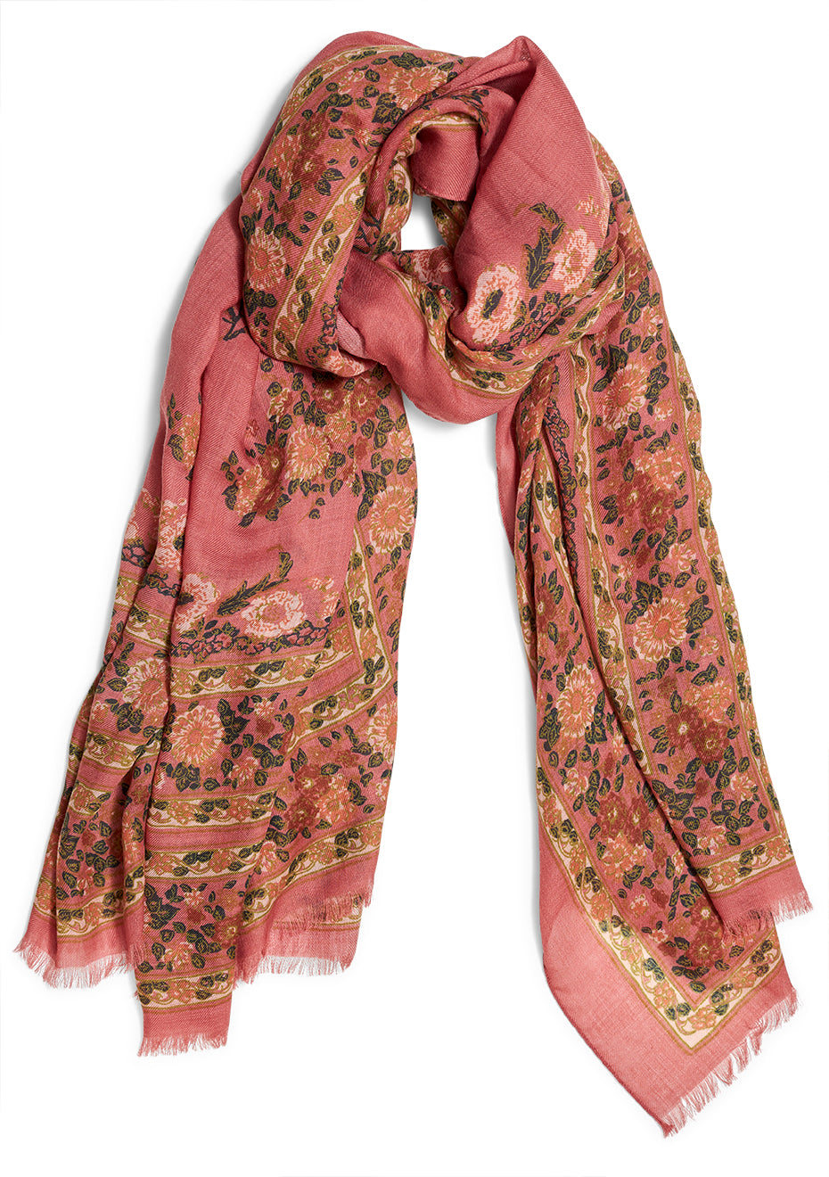 Floral Dusty Cashmere Scarf