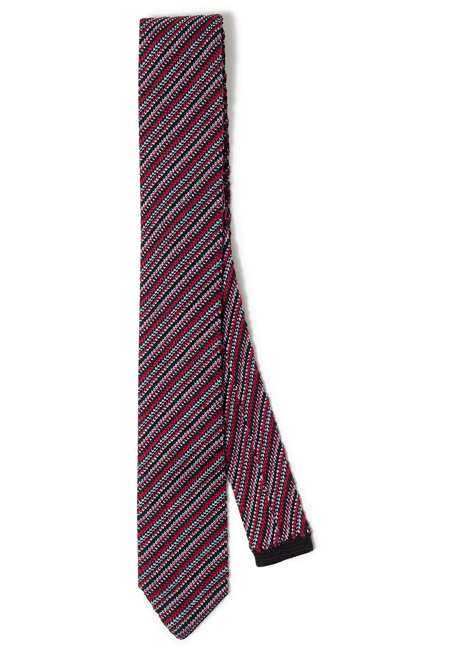 Red Striped Wool Tie