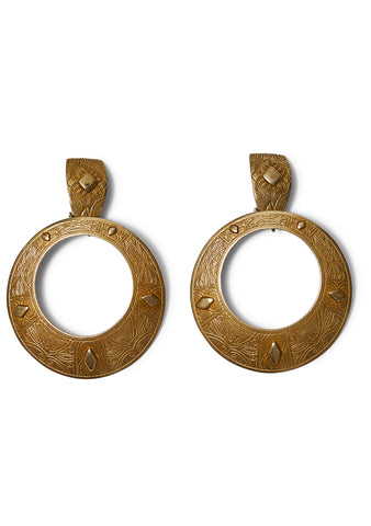 Round Pendant Earrings