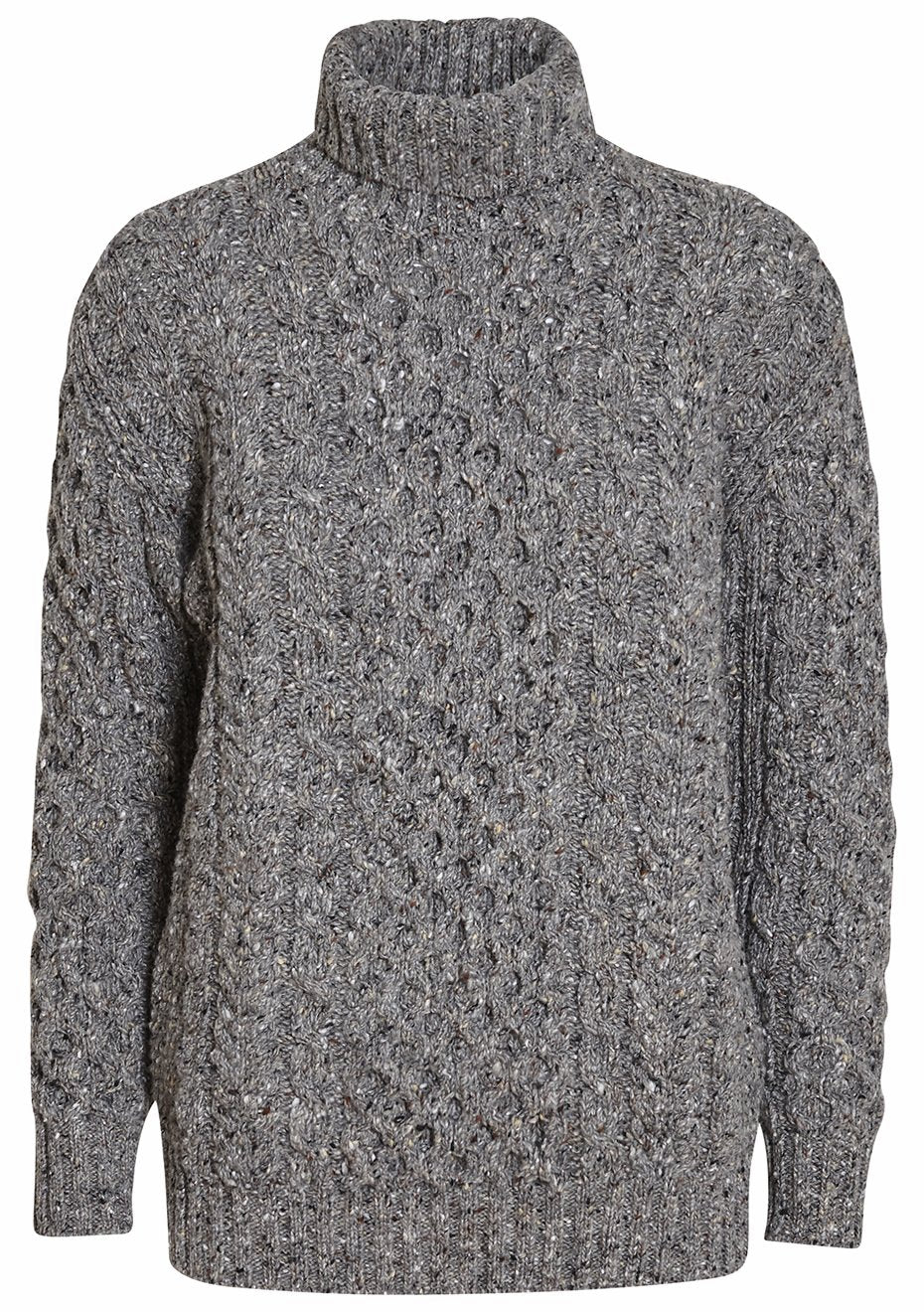 Donegal Aran Roll Neck