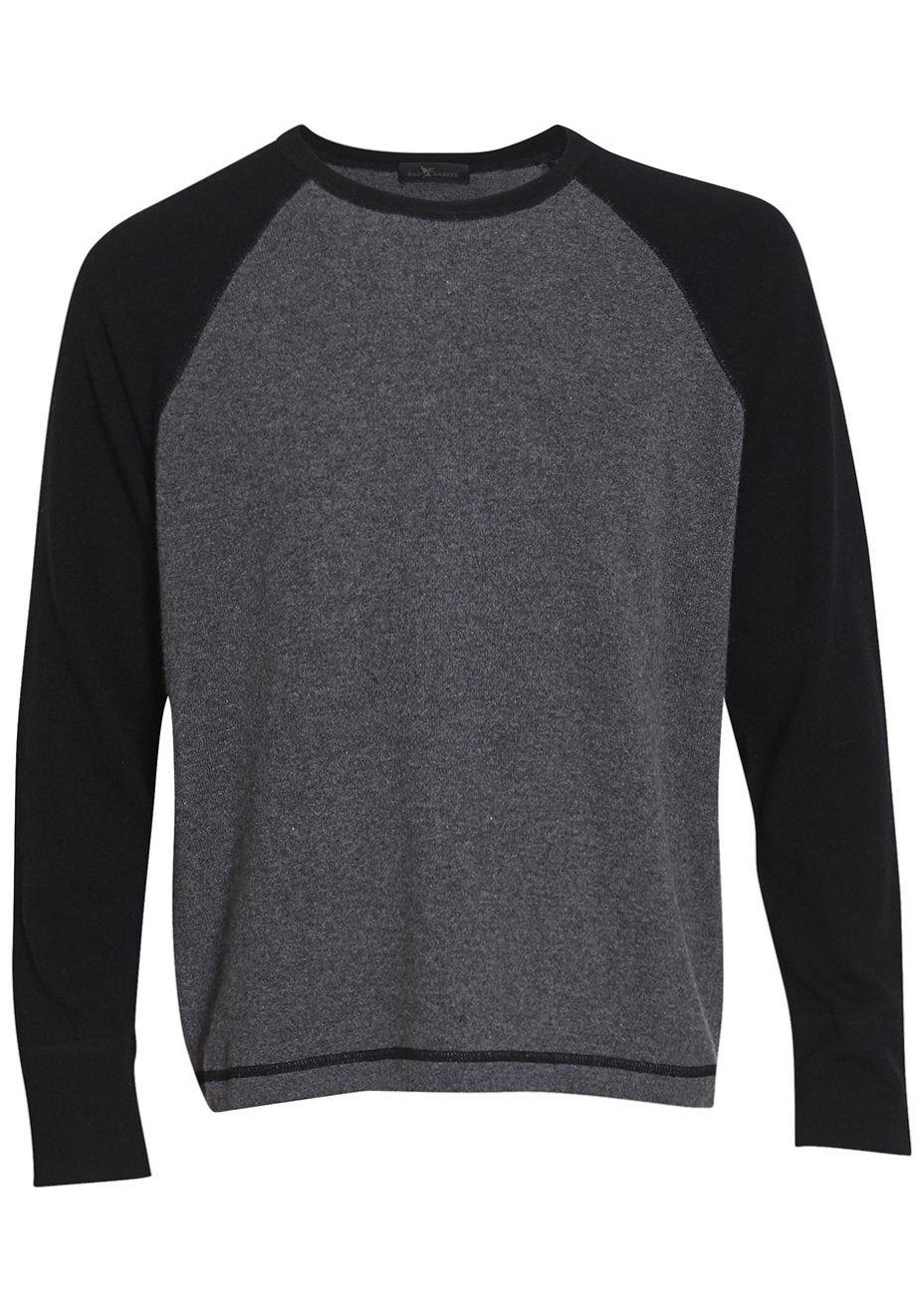 Black & Grey Rugby Cashmere Sweater