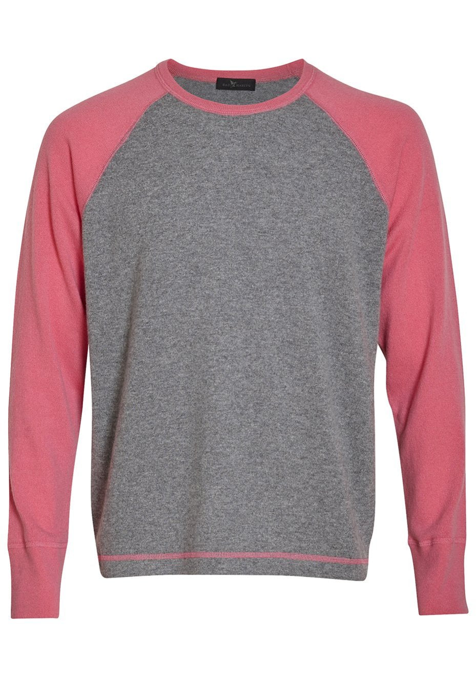 Pink & Green Rugby Cashmere Sweater