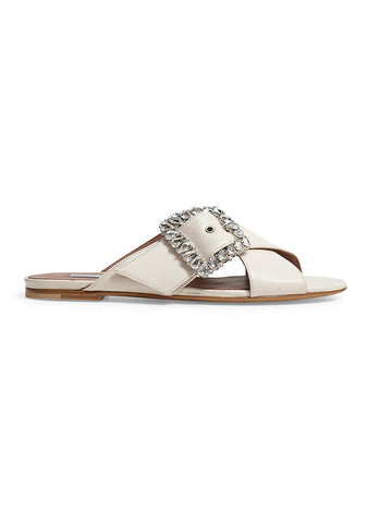 Tabitha Simmons Leni Crystal-buckle Leather Sandals shop online