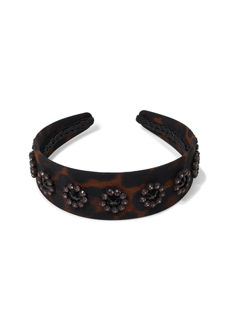 Erdem Cluster Embroidered Leopard Headband shop at lot29.dk