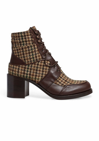 Tabitha Simmons Leo Tweed Lace Up Boots