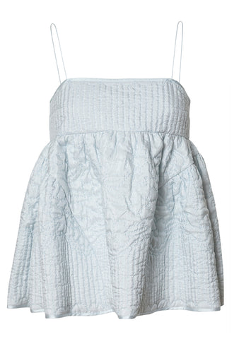 Cecilie Bahnsen Emilia Quilted Silk Top shop online