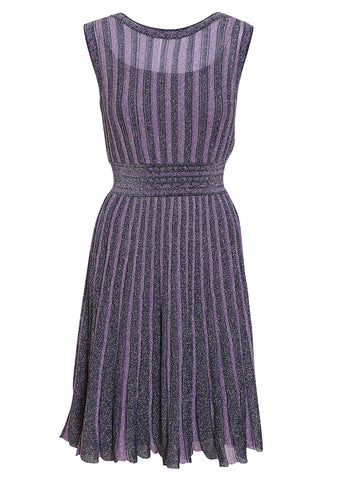 Missoni Striped Lamé Midi Dress