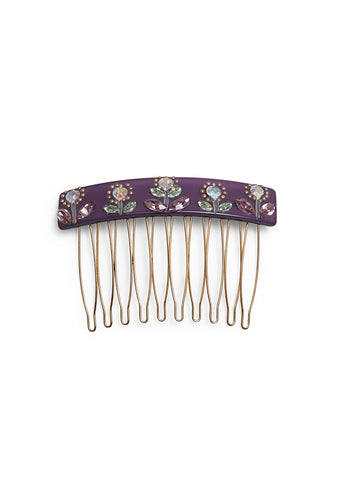 MC Davidian Purple Crystal Hair Comb