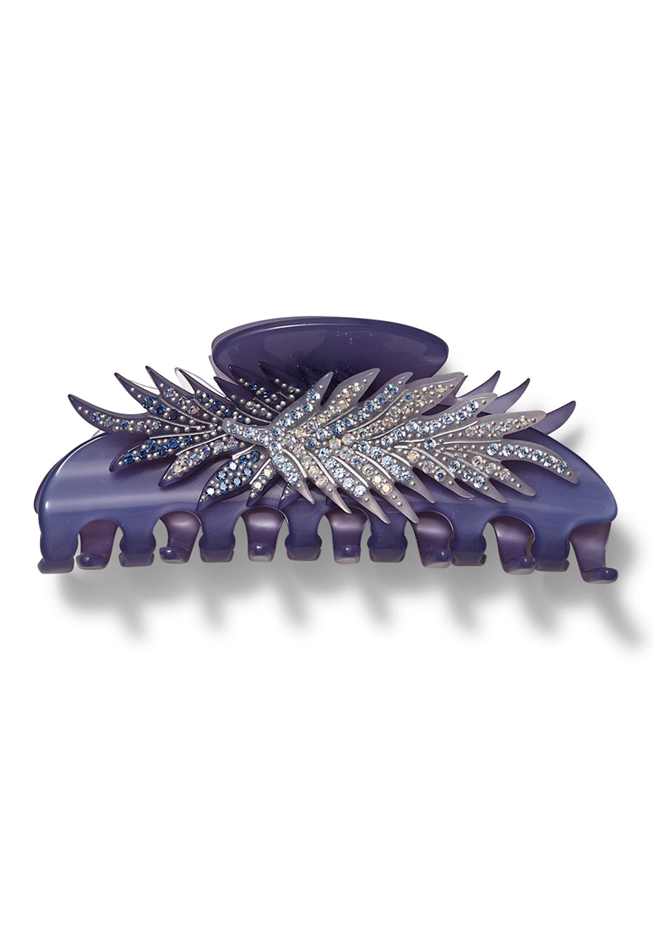 Lilac Feather Hair Clip