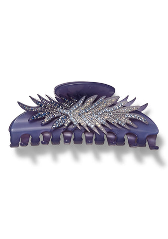 MC Davidian Lilac Feather Hair Clip