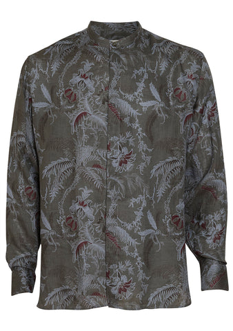 Etro Men Printed Linen Shirt