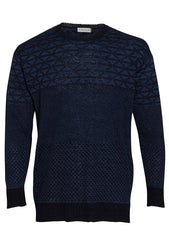 Etro Blue Linen Crewneck Sweater