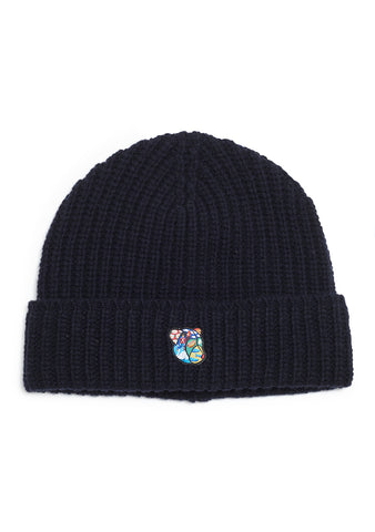 Tonsure Navy Logan Knit Hat