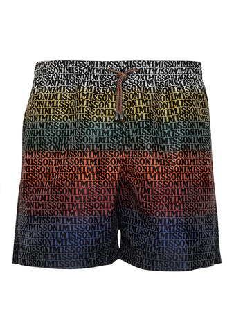 Missoni Mare Logo Striped Swim Shorts