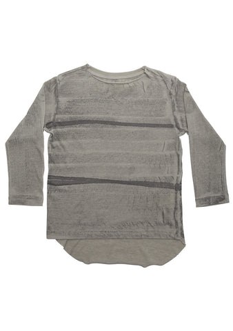 Grey Tie Dye Jersey Baby Long Sleeve Tee