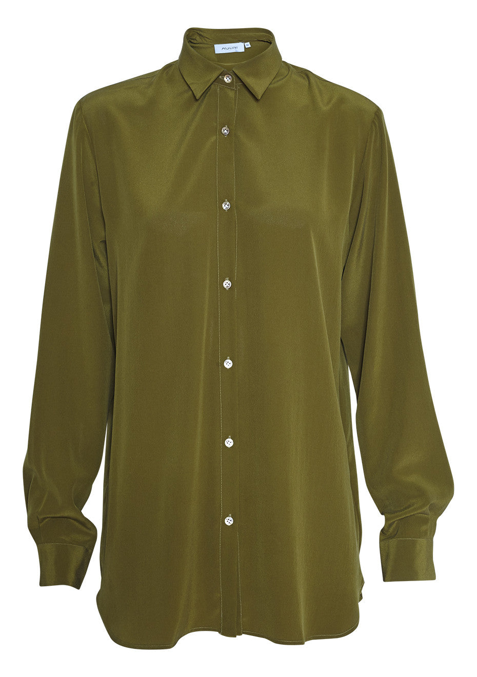 Button-up olive green