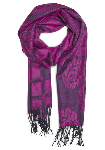 Etro Purple Wool Scarf