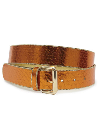 Etro Metallic Orange Belt