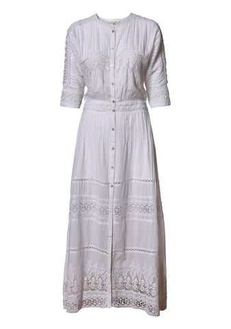 Beth White Maxi Dress