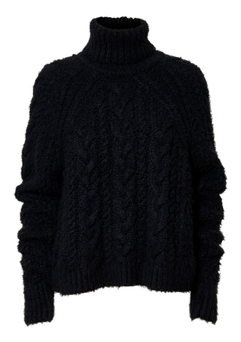 Freja Anthracite Hand Knitted Silk Jumper