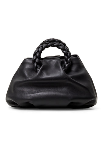 Bombon Black Leather Crossbody Bag