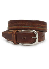 Etro Men Brown Leather Belt