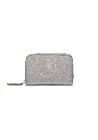 Mark Cross Silver Grace Mini Zip Wallet