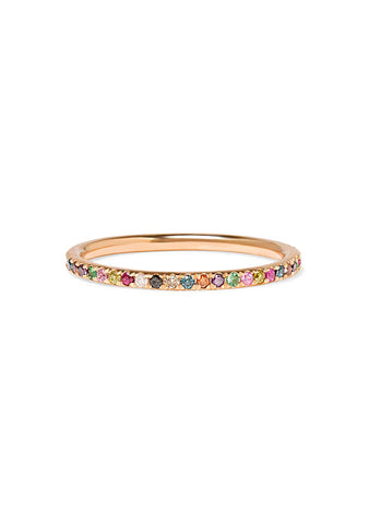 Rainbow Thread Band Ring