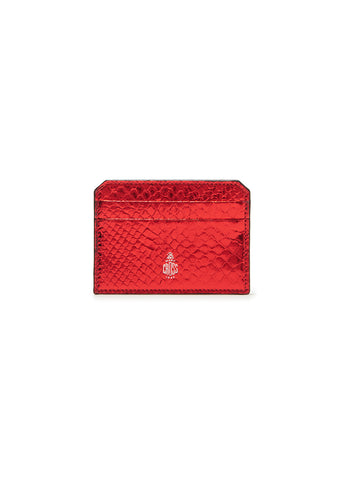 Mark Cross Metallic Python Card Case