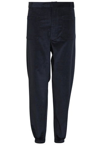 Black Corduroy Dekard Trousers