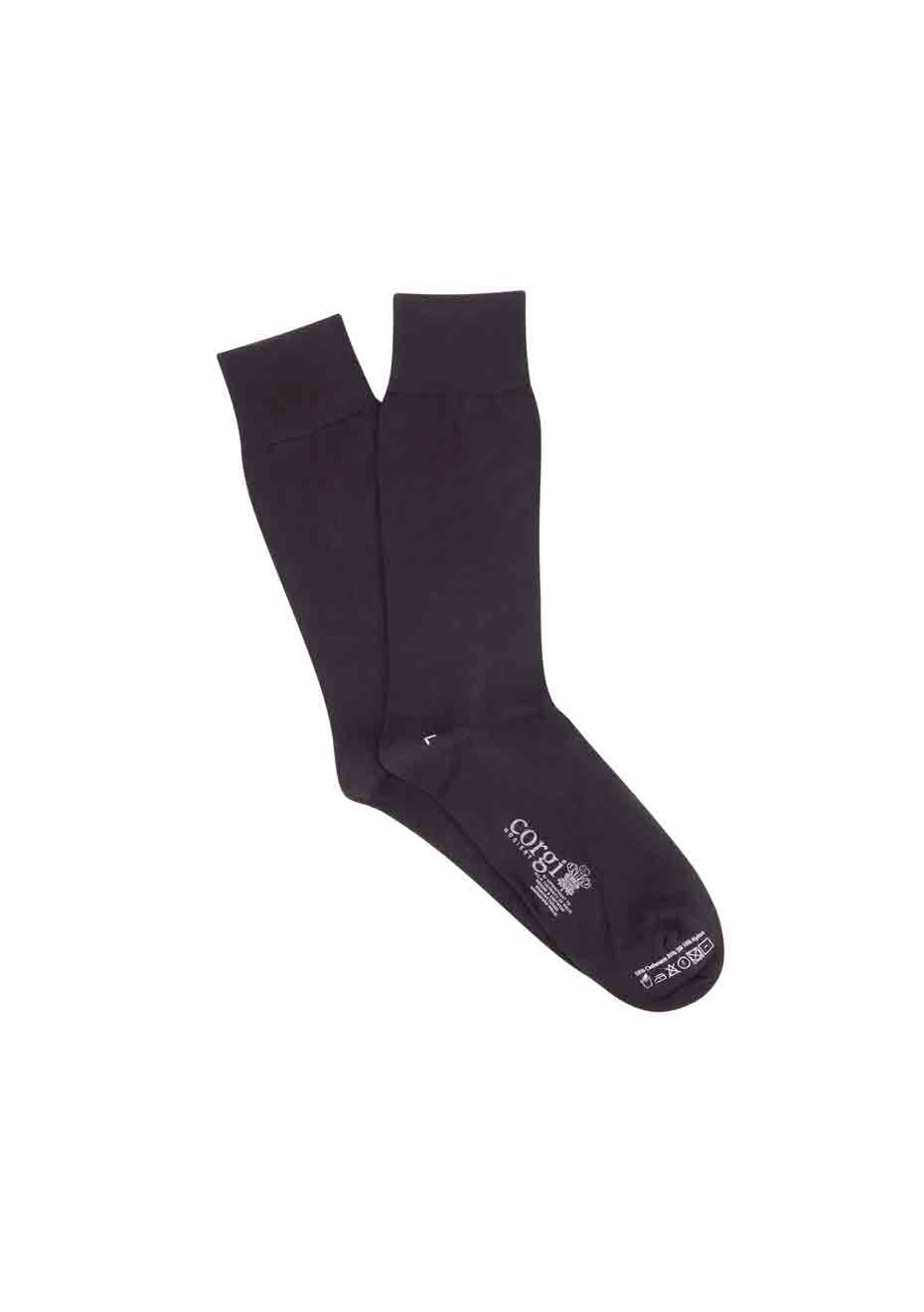 Men's Black Plain Cashmere & Silk Blend Socks