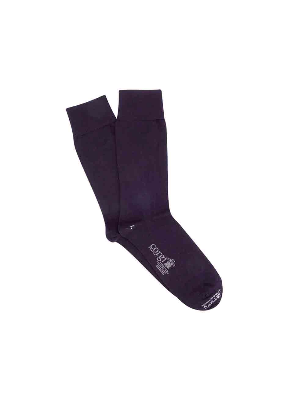 Men's Navy Plain Cashmere & Silk Blend Socks