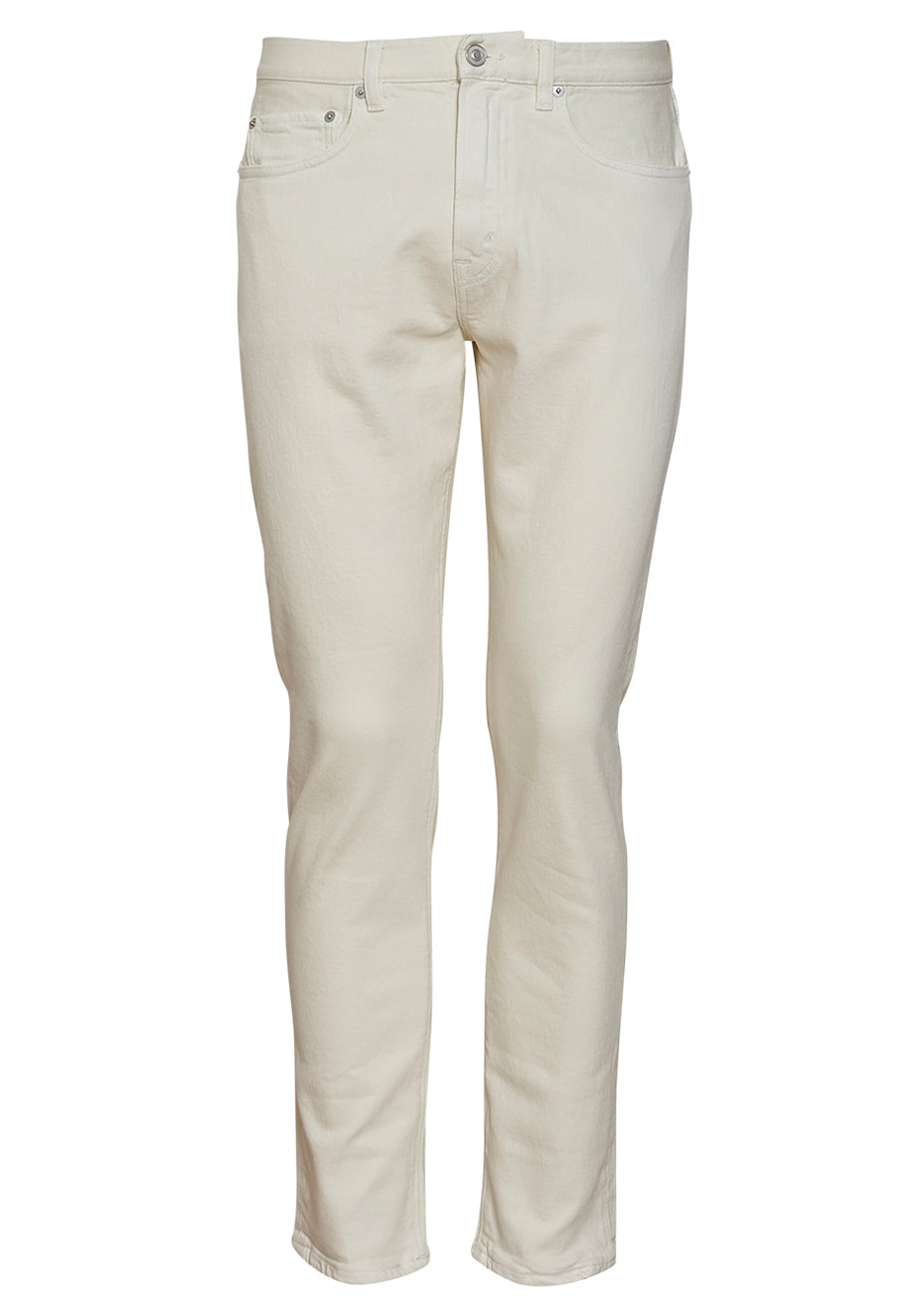 TM005 Yellow White Tapered Jeans
