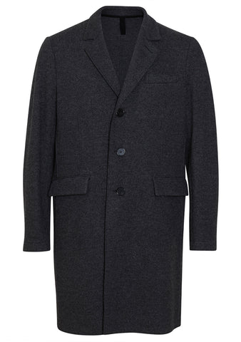 Harris Wharf London Anthracite Cashmere Blend Chester Coat